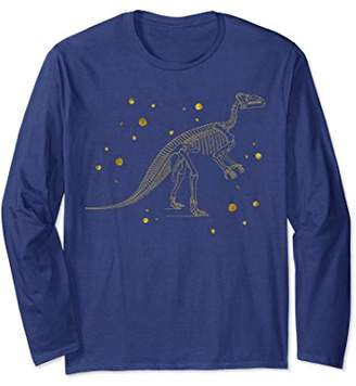 Fossil Vintage Dinosaur Gold Bone Cool Dino Gift Long Sleeve