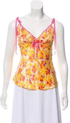 Diane von Furstenberg Silk-Blend Printed Top