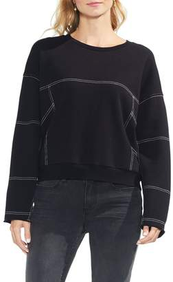 Vince Camuto Drop Shoulder Contrast Pullover