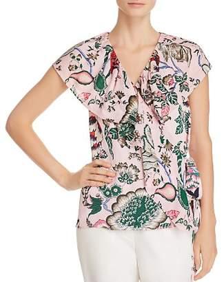 Tory Burch Adelia Floral-Print Wrap Top