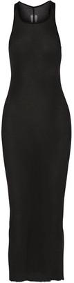 Rick Owens - Cotton-jersey Maxi Dress - Black $360 thestylecure.com