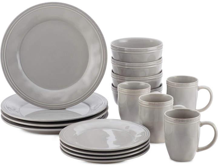 Rachael Ray Cucina Sea Salt Grey 16-Pc. Set, Service for 4