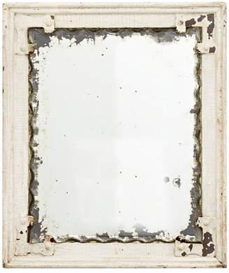 Rejuvenation Rustic Pie Crust Mirror in Painted Steel Frame