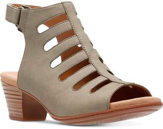 Clarks Collection Women's Valarie Shelly Dress Sandals Women's Shoes