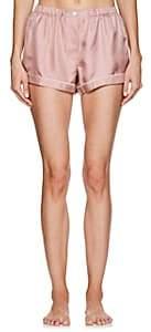 Araks Women's Tia Silk Pajama Shorts-Pink