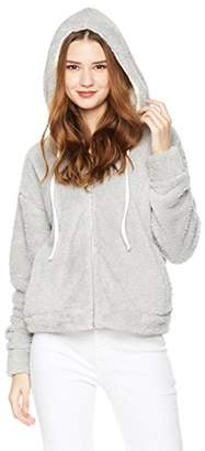 Rebel Canyon Women's Young Long Sleeve Sherpa Hoody with Contrast Hood Lining and Side Pockets.