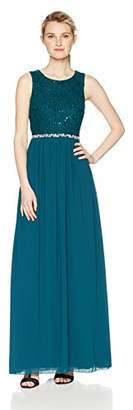 Speechless Full-Length Dress with Sparkle Lace Bodice and Chiffon Skirt (Junior's)