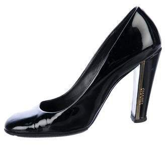 Chanel Patent Leather Square-Toe Pumps