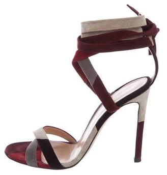 Gianvito Rossi Suede Wrap-Around Sandals