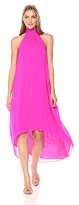 Trina Turk Women's Panoramic High Low Silk Georgette Dress