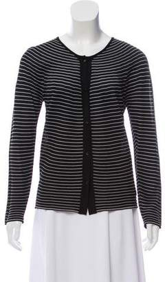 Giorgio Armani Striped Scoop Neck Cardigan