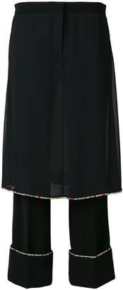 Marco De Vincenzo embellished layered trousers