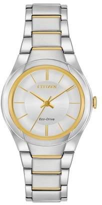 Citizen Women's Silhouette Blue Dial Stainless Steel Watch, 29mm