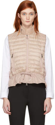 Moncler Pink Down Jersey Panel Vest