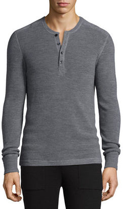 Michael Kors Merino Wool Waffle-Knit Henley Shirt $175 thestylecure.com