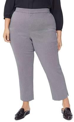 NYDJ Plus Printed Straight Pants
