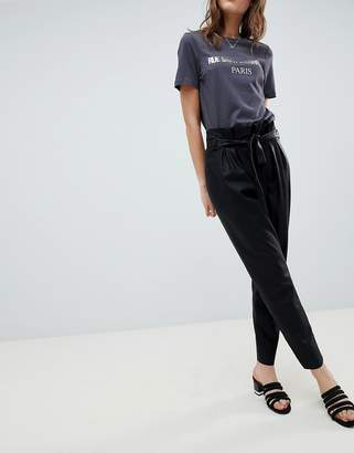 Minimum Moves By Faux Leather Pants