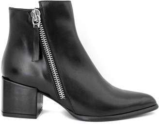 Roberto Festa Daniela Ankle Boot In Black Leather.