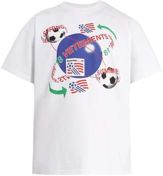 Vetements Football-print cotton T-shirt