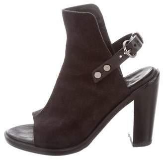 Rag & Bone Leather Peep-Toe Ankle Boots