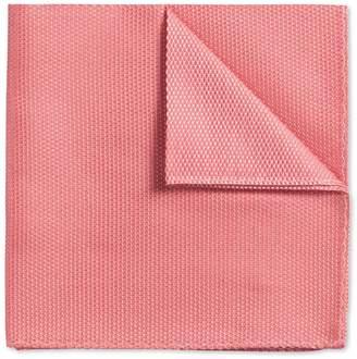Charles Tyrwhitt Coral Plain Classic Silk Pocket Square