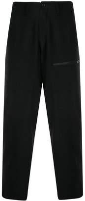 Yohji Yamamoto zip pocket tapered trousers