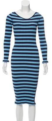 Altuzarra Striped Rib Knit Dress