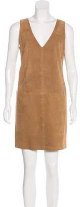Ralph Lauren Suede & Wool Mini Dress