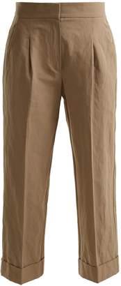 Brunello Cucinelli Straight-leg cropped cotton-blend chino trousers
