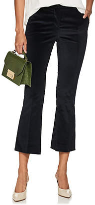 Pt01 Women's Jane Crop Flared Trousers - Navy