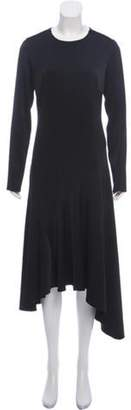 Jason Wu Long Sleeve Midi Dress Black Long Sleeve Midi Dress