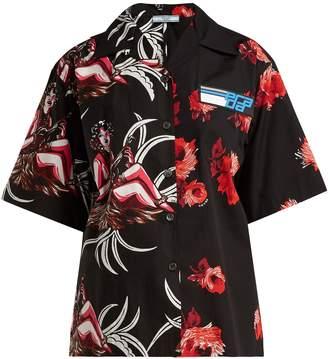 Prada Rose and Hawaiian-print cotton shirt