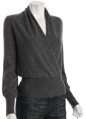 Design History shadow cashmere wrap sweater