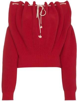 Calvin Klein Off Shoulder Knit Pullover