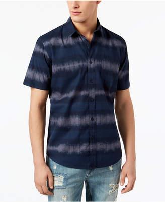 American Rag Men's Striped Tie Dye Shirt, Created for Macy's