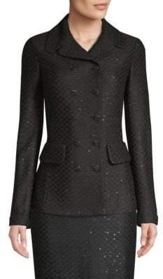 St. John Sequin Peplum Blazer Jacket