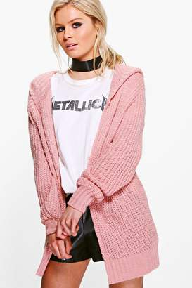boohoo Soft Knit Hooded Cardigan