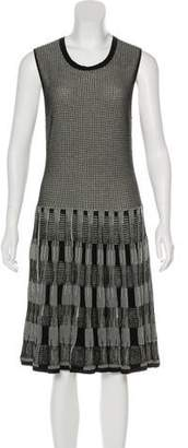Lela Rose A-Line Patterned Dress