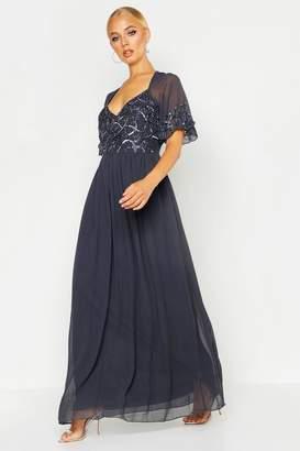 e10a3b2310aa Grey Embellished Maxi Dress - ShopStyle UK