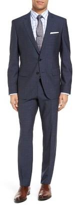 Men's Boss Huge/genius Trim Fit Check Wool Suit $895 thestylecure.com