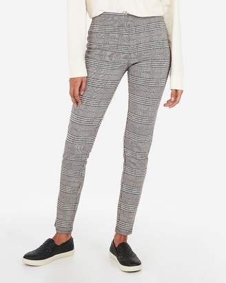 Express High Waisted Plaid Pull-On Leggings