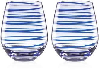 Kate Spade Charlotte Street Stemless Wine Glass, Set of 2
