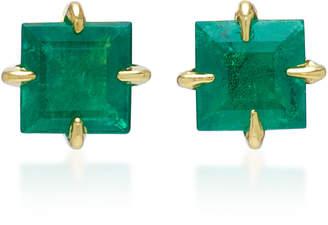 Ila Vela 14K Gold And Emerald Earrings
