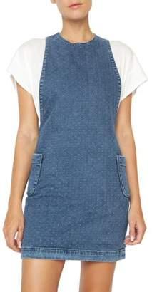 James Jeans Women's Polly Denim Apron Dress