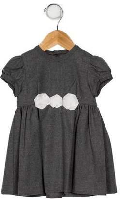 Il Gufo Girls' Gathered Short Sleeve Dress w/ Tags