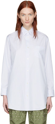 Junya Watanabe White Striped Shirt $500 thestylecure.com