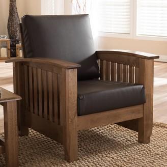 Baxton Studio Charlotte Faux-Leather Lounge Chair