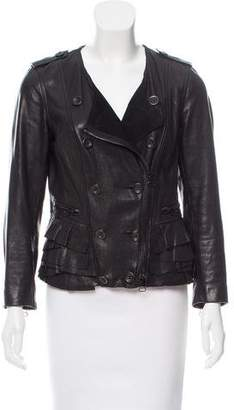 3.1 Phillip Lim Ruffle-Accented Leather Jacket