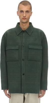 Jacquemus Wool Knit Shirt Jacket