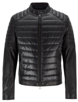 095fa5eb3 Mens Quilted Leather Jacket - ShopStyle UK